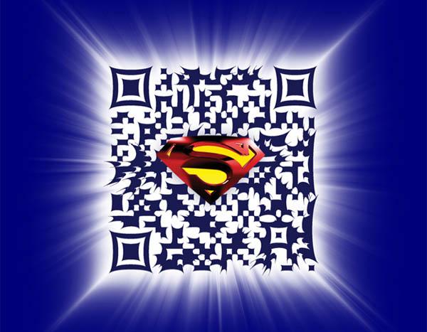 Superman QR code inspirationally designed