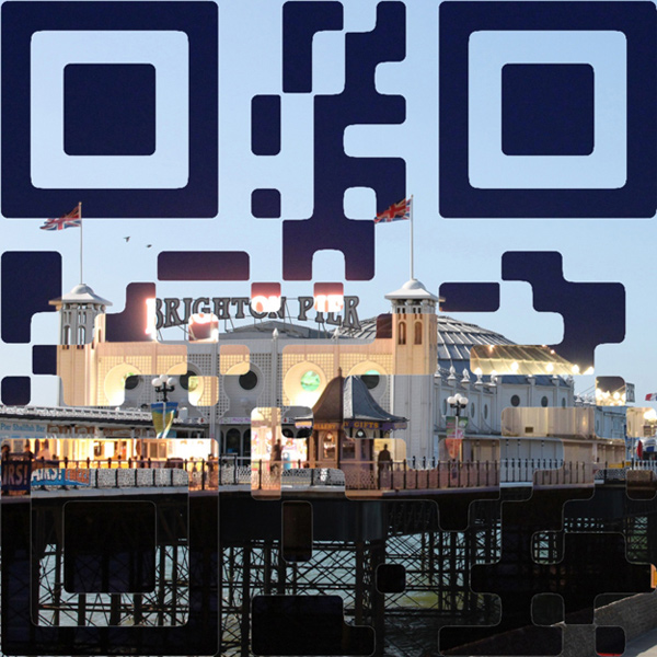 Photo Manipulated QR code inspirationally designed