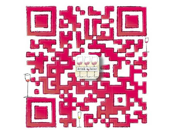 The Wine Sisterhood QR code inspirationally designed