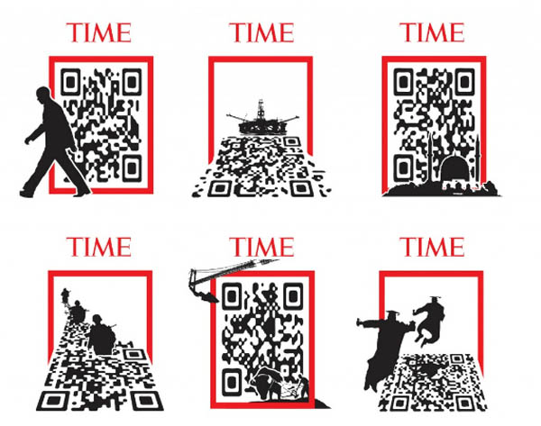 TIME QR code inspirationally designed