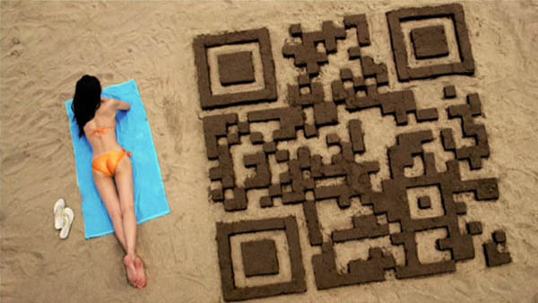 SandCastle QR codes inspirationally designed