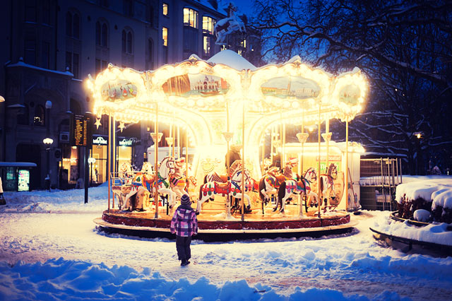 Christmas Carousel in a gallery of Seasonal and Christmas Photography