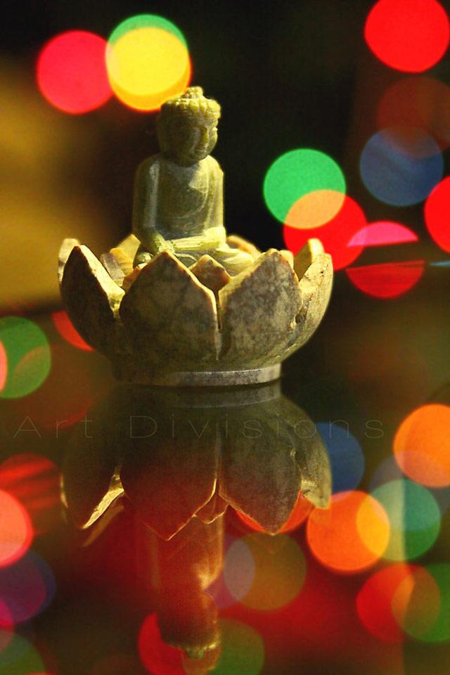 Christmas Buddha in a gallery of Seasonal and Christmas Photography