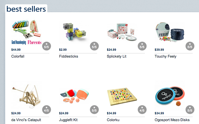 Marbles the brain store website eCommerce layout design