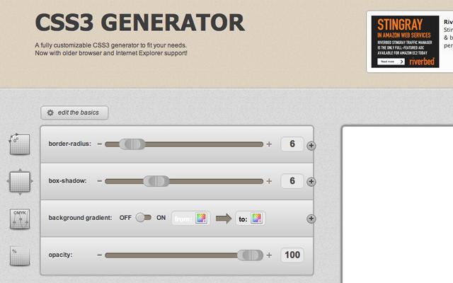 CSS3 Codes Generator webapp syntax