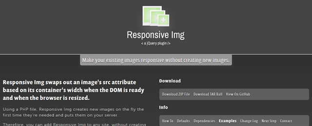 Responsive Img is a jQuery plugin that swaps an image's src attribute based on its container's width
