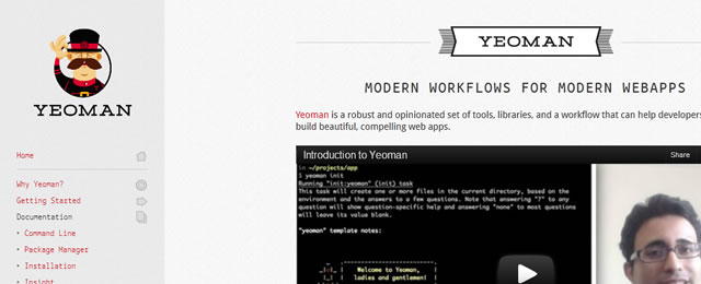 Yeoman is a Modern workflows for modern webapps