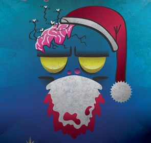 Merry Christmas Zombie Poster Illustrator Tutorial