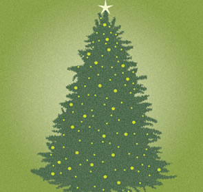 Creating an Earthy Christmas Tree Illustrator Tutorial