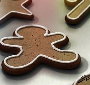 Create a Gingerbread Cookie Scene Photoshop Tutorial