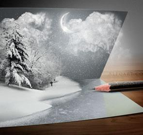 Unusual Christmas Card Tutorial Photoshop Tutorial