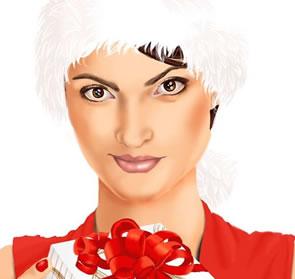 Create a Christmas Holiday Portrait Photoshop Tutorial