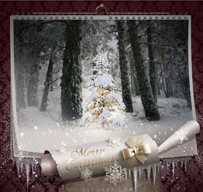 Create a Magical Christmas Calendar Photoshop Tutorial