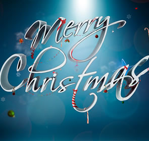 Festive Ornamental Christmas Text Effect Photoshop Tutorial