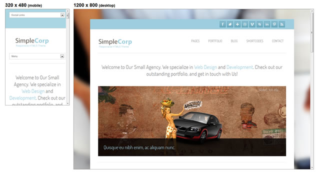 SimpleCorp minimal theme WordPress