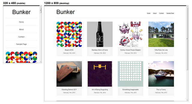 Bunker minimal theme WordPress