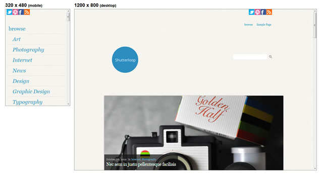 Shutterloop is a Minimal Responsive WordPress Themes