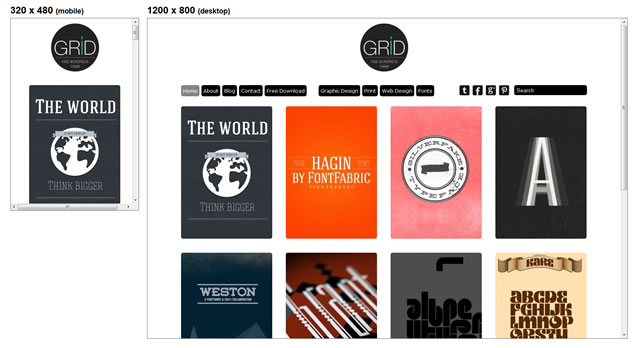 Grid Theme is a minimal and responive theme for WordPress