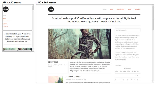Origin Responsive minimal theme WordPress