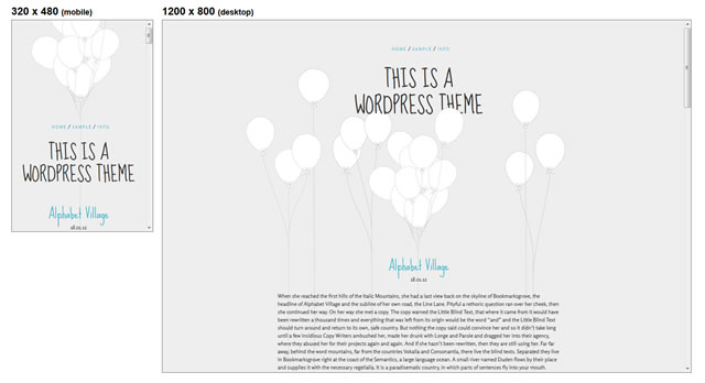 Balloons Responsive minimal theme WordPress