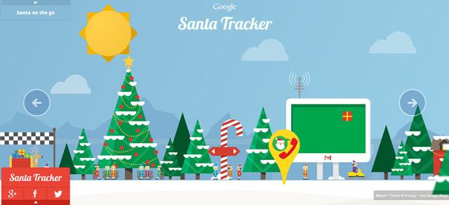 Santa Tracker Homepage