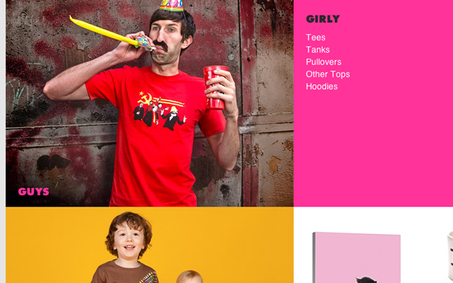 Threadless photo thumbnails products category shopping