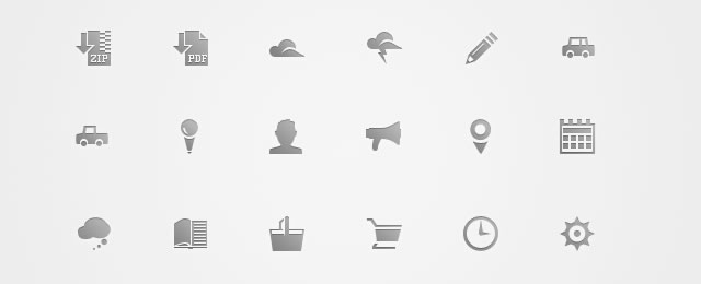 Free Icon Set freebie for web design