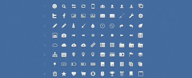 Application Icon Set for web design and development