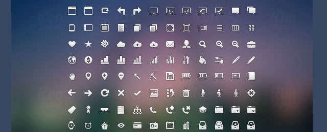 Crisp Icon Set for web design and development