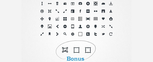 Glyph Icons PatriGlyphs for web design and development
