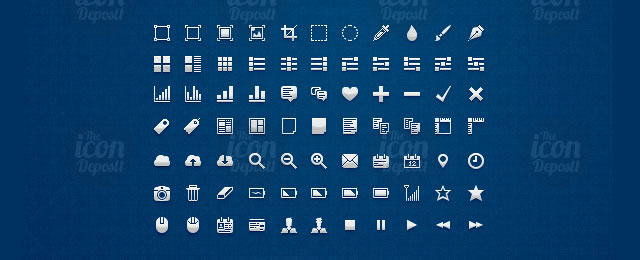 Pixel UI Icon Set for web design and development