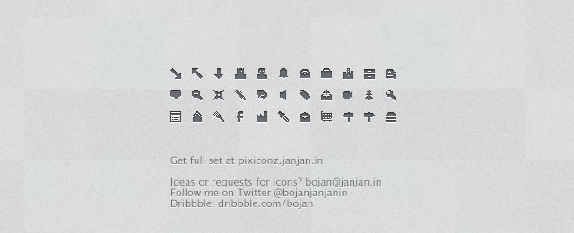 Pixiconz for web design and development