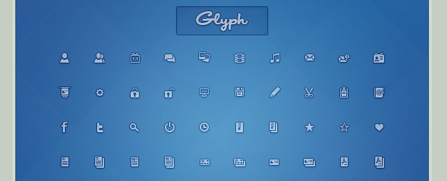 Glyph Icon Set free for web designers