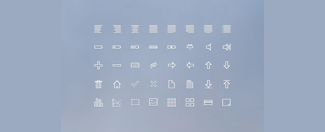 16px Icon Set free for web designers