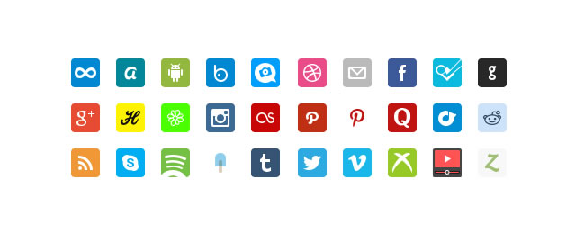 Social Retina Icon Pack free for 2012 designers