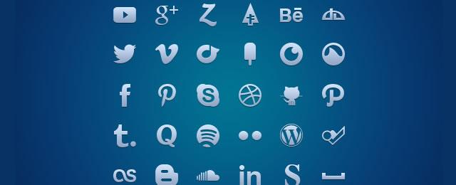 Social Media Glyph Set free for 2012 designers