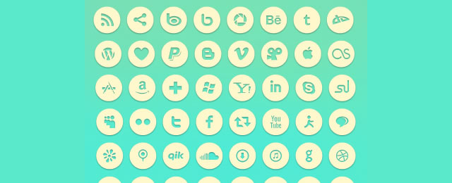 Social Icons free for 2012 designers