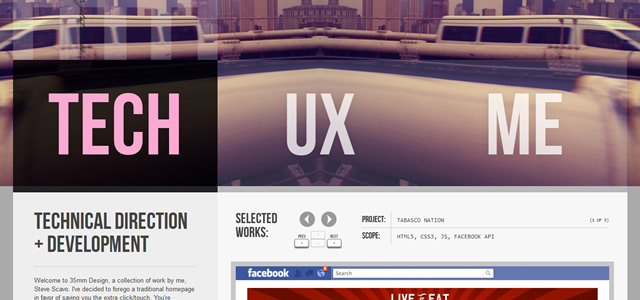 35mm Design screenshot in favorite Web Designs 2012