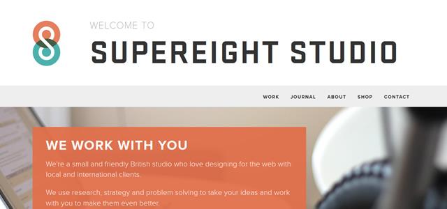 Supereight Studio screenshot in Best of Web Design 2012