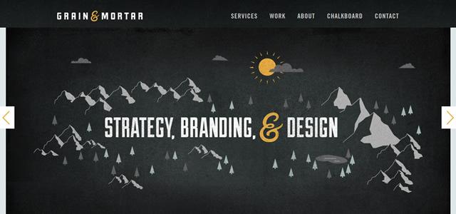 Grain & Mortar screenshot in favorite Web Designs 2012
