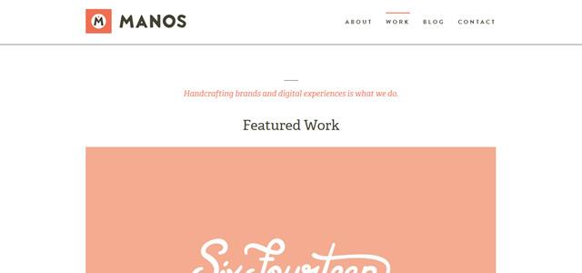 Manos screenshot in favorite Web Designs 2012