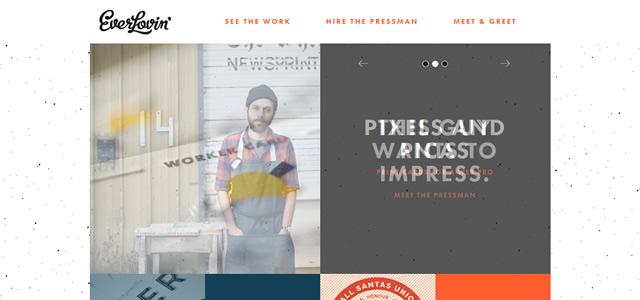 Everlovin' Press screenshot in Best of Web Design 2012 screenshot in Best of Web Design 2012