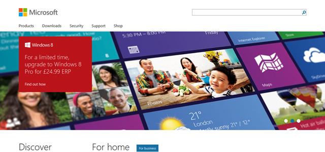 Microsoft screenshot in Best of Web Design 2012 screenshot in Best of Web Design 2012