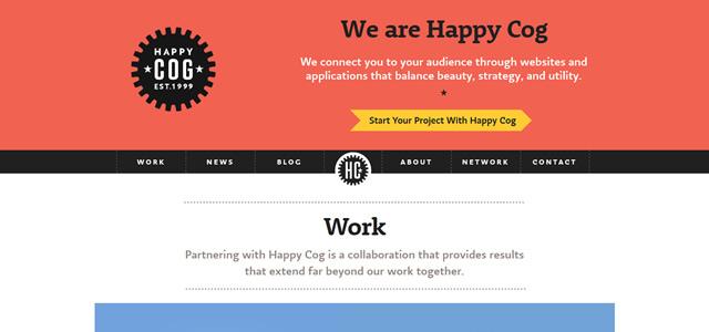 Happy Cog screenshot in Best of Web Design 2012