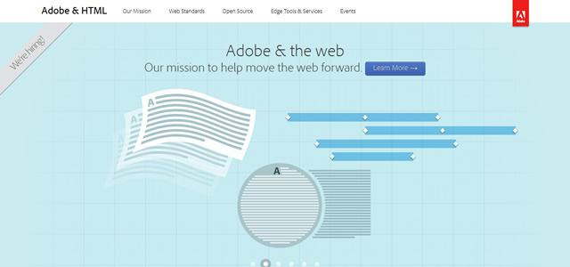 Adobe & HTML screenshot in Best of Web Design 2012
