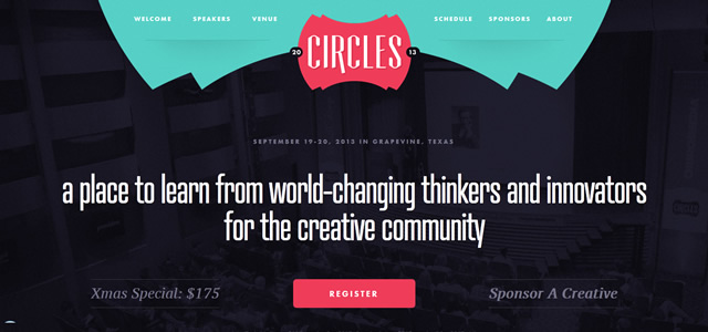 Circles Conference screenshot in favorite Designs from 2012
