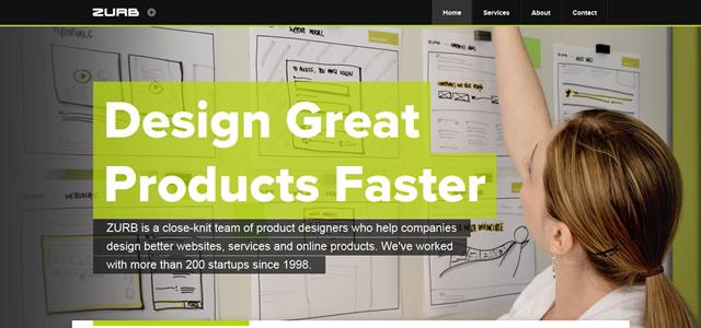 ZURB screenshot in favorite Designs from 2012