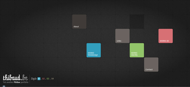Thibaud's Portfolio screenshot in favorite Designs from 2012