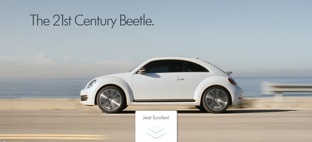 Volkswagen Beetle <small></noscript>(Parallax Scrolling) screenshot in favorite Designs from 2012″/></p> <h5><a target=