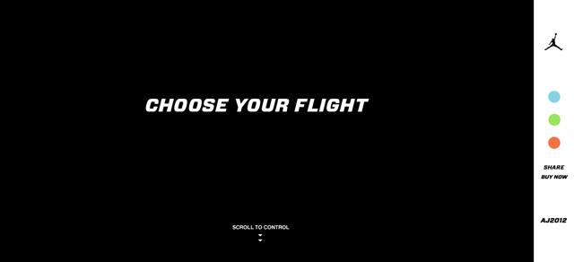 Air Jordan 2012 (Parallax Scrolling) screenshot in favorite Designs from 2012